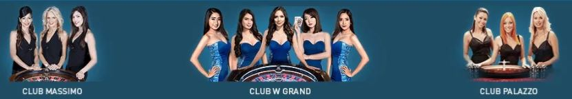 Live Casino W88: Club Massimo, Club W Grand, Club Palazzo